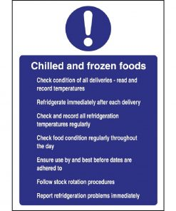 Vogue Chilled and Frozen Foods Sign