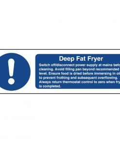 Vogue Deep Fat Fryer Safety Sign