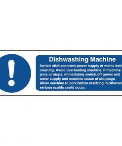 Vogue Dishwasher Machine Safety Sign
