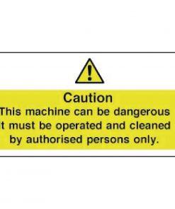 Vogue Dangerous Machine Sign