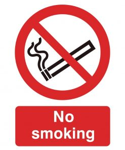 PVC No Smoking Symbol Sign