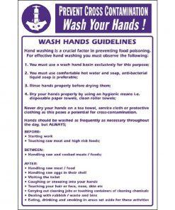 Vogue Prevent Cross Contamination Wash Hands Sign